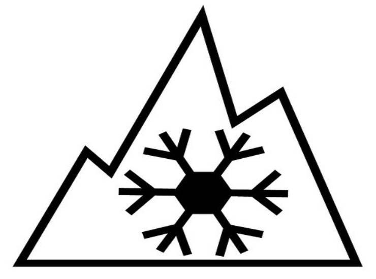 3 peak mountain snowflake