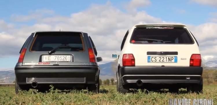 Fiat Uno Turbo vs Renault 5 GT Turbo