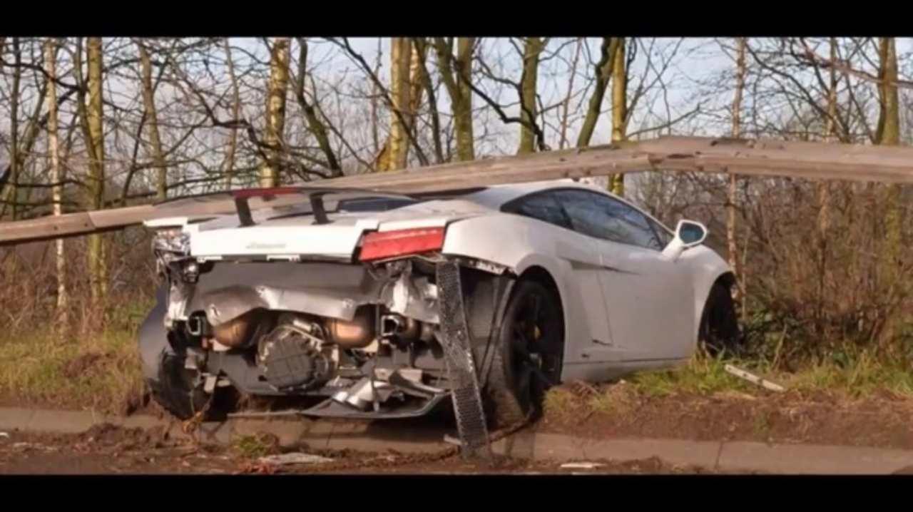 Schianto Lamborghini Romero