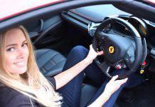 Tety Tudor guida una Ferrari pazzesca