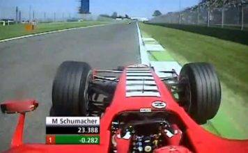 Schumacher on board Imola
