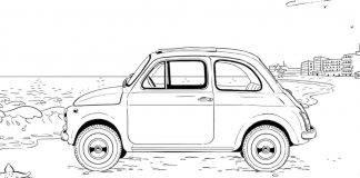 Fiat 500 da colorare