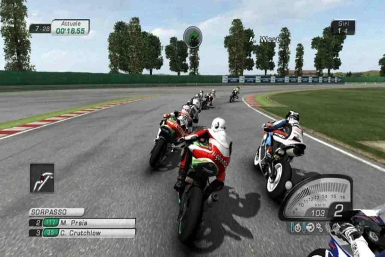 Un fotogramma della serie di videogame Superbike