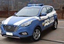 Hyundai auto elettriche Polizia