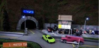 Lamborghini contro Mini, folle corsa tra auto... giocattolo - Video