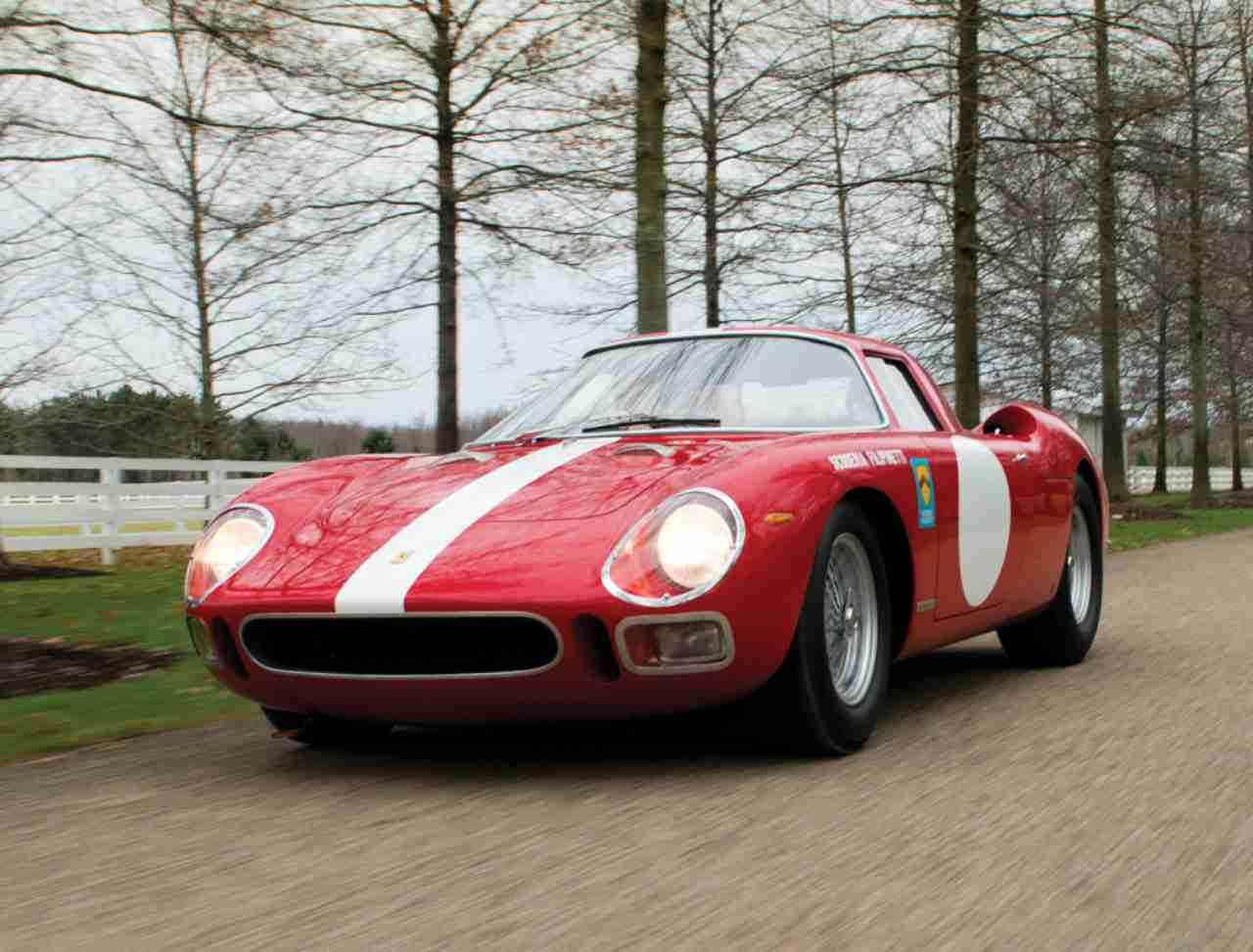 La Ferrari 250 LM. Uno degli ultimi modelli prodotti partecipa al Concours d'Elegance