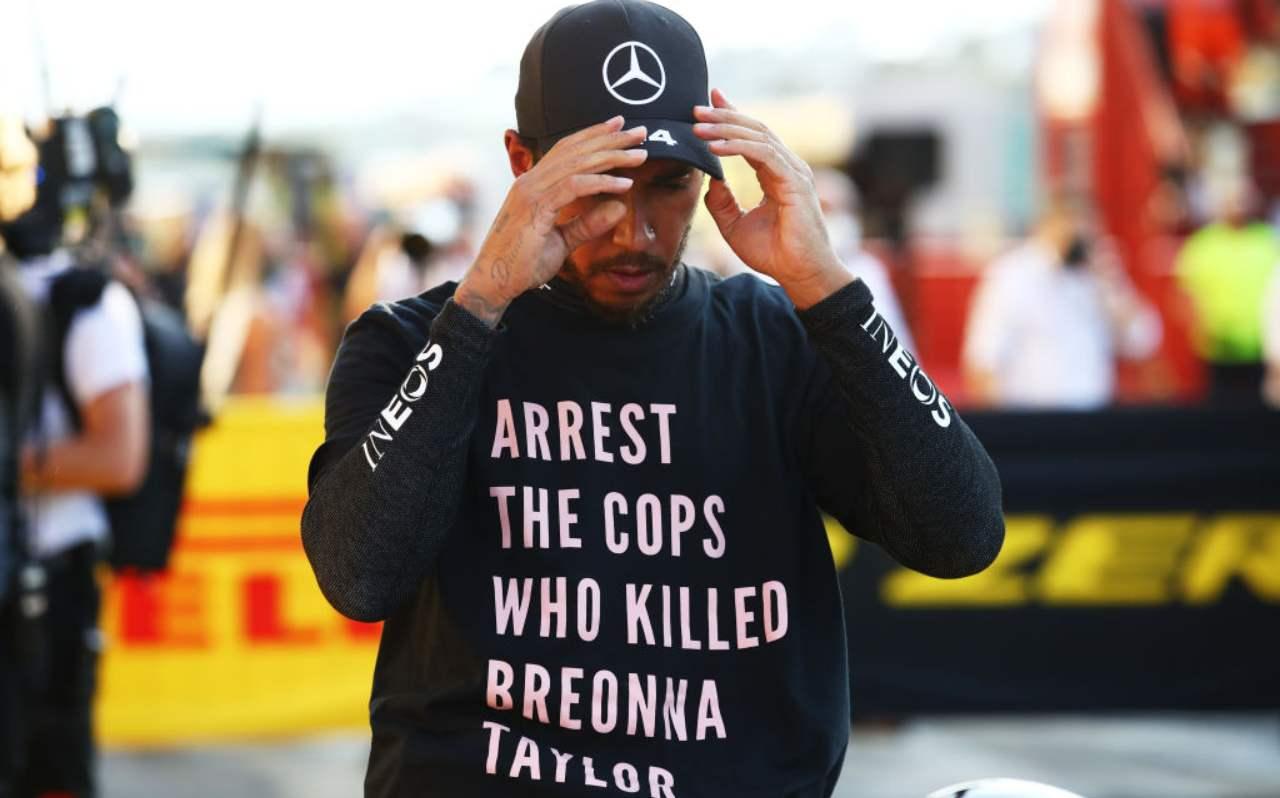 Lewis Hamilton maglia Breonna Taylor