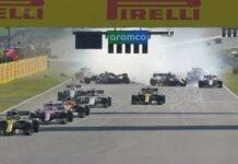 F1 GP Mugello: Giovanazzi tampona Magnussen, incidente in rettilineo | Video