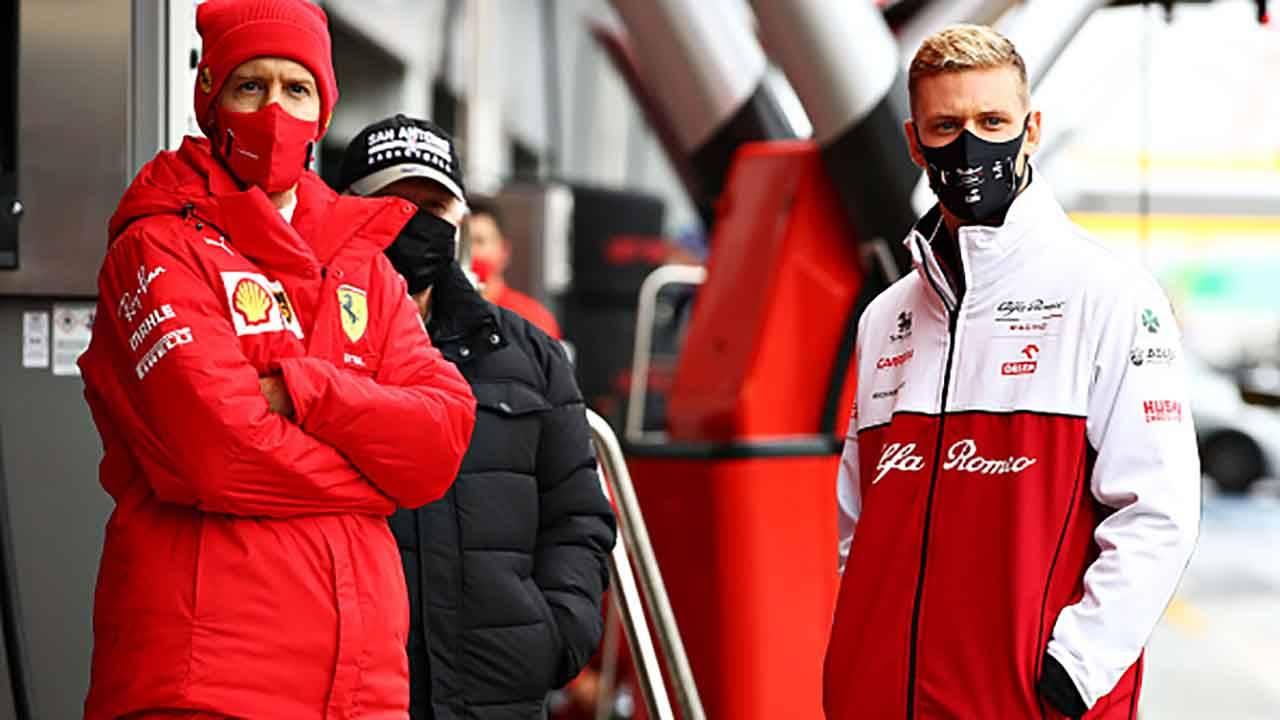 Mick Schumacher e Vettel