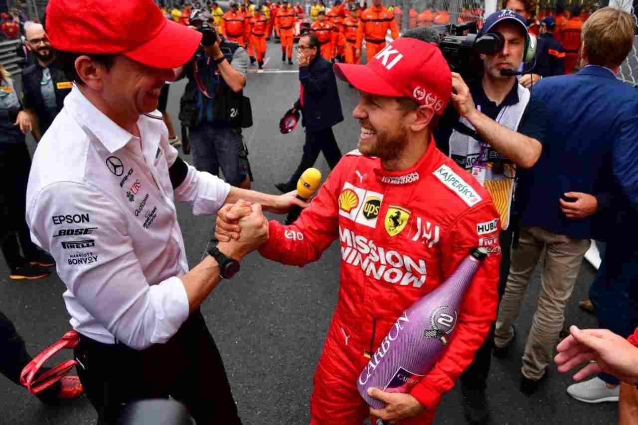 Sebastian Vettel Toto Wolff