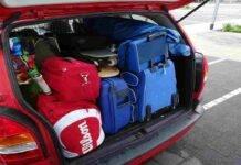 Trasportare oggetti auto multa
