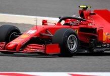 Charles Leclerc F1 GP Bahrain casco