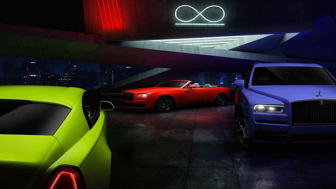 Rolls Royce Black Badge Neon Nights