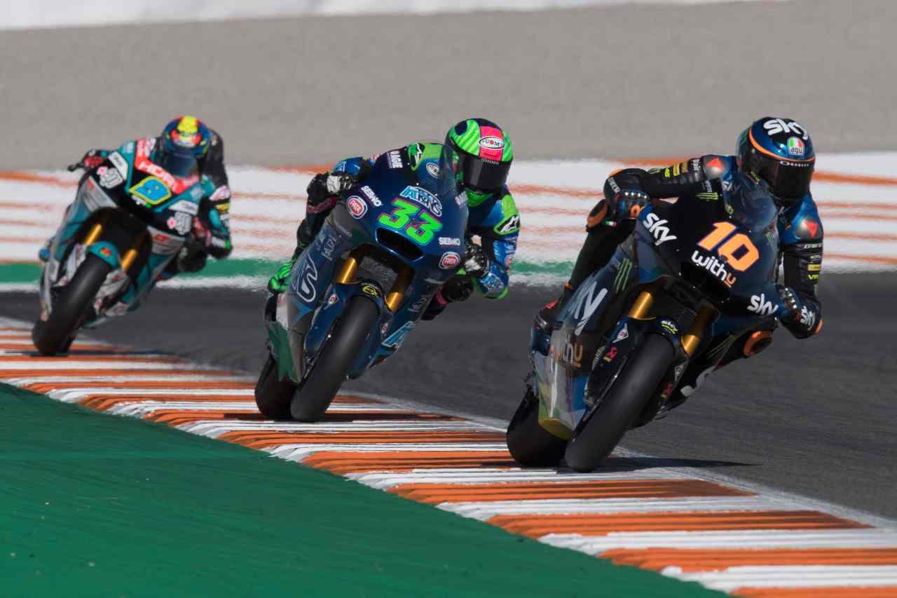 Moto 2, lotta per il Mondiale: le combinazioni per Bastianini, Marini, Bezzecchi
