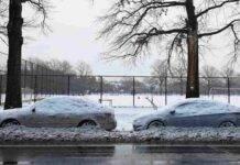 auto ladro neve