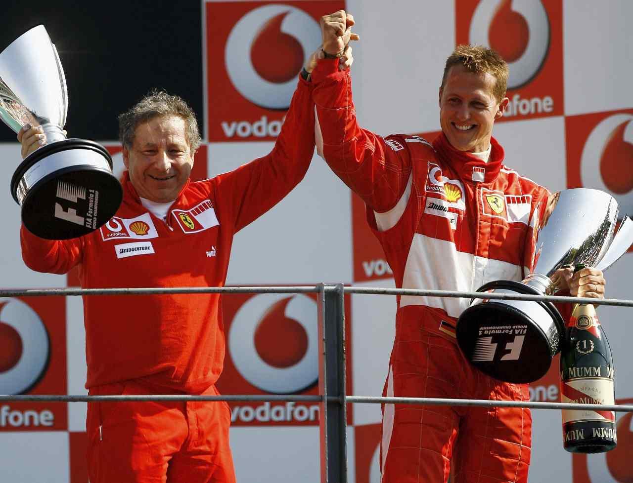Jean Todt e Schumacher, coppia d'oro alla Ferrari