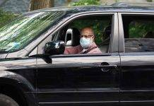 mascherina in auto