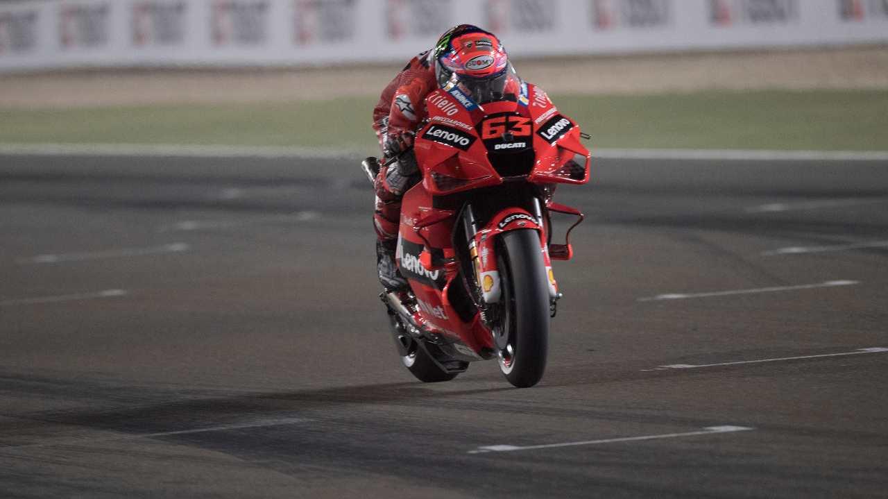 MotoGP Doha, Pecco Bagnaia (foto Getty)