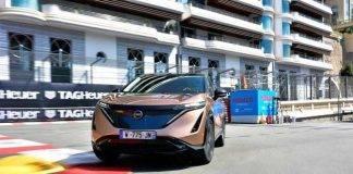Nissan Ariya, il crossover coupé elettrico debutta sul circuito di Monaco