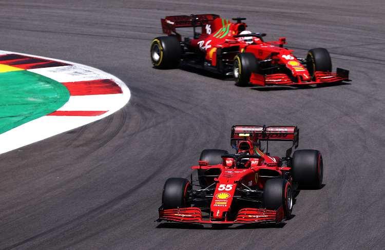 Carlos Sainz Charles Leclerc Ferrari