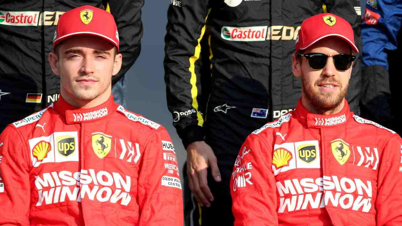 Charles Leclerc Sebastian Vettel
