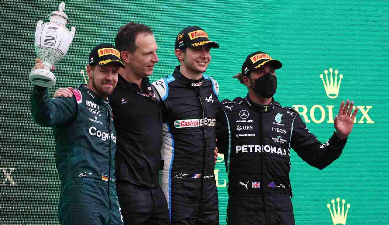 podio Gp Ungheria