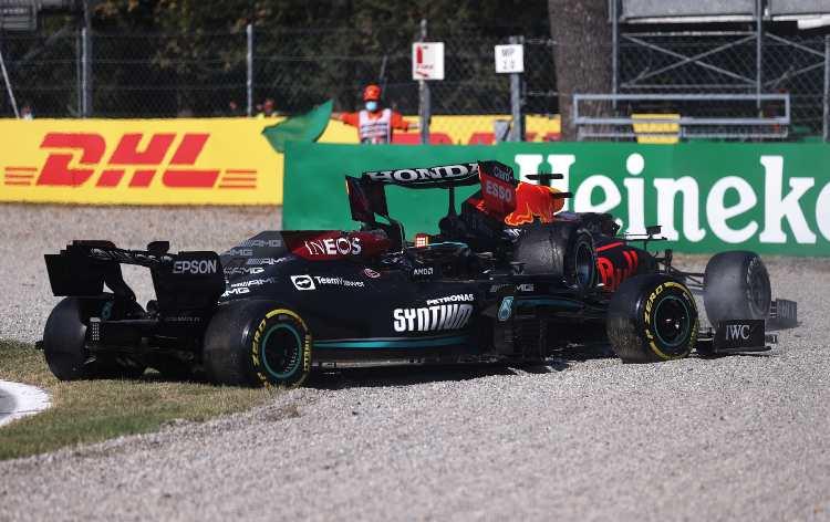 Incidente Mercedes Red Bull F1 GP Monza